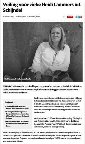 Knipsel Brabants Dagblad Veiling