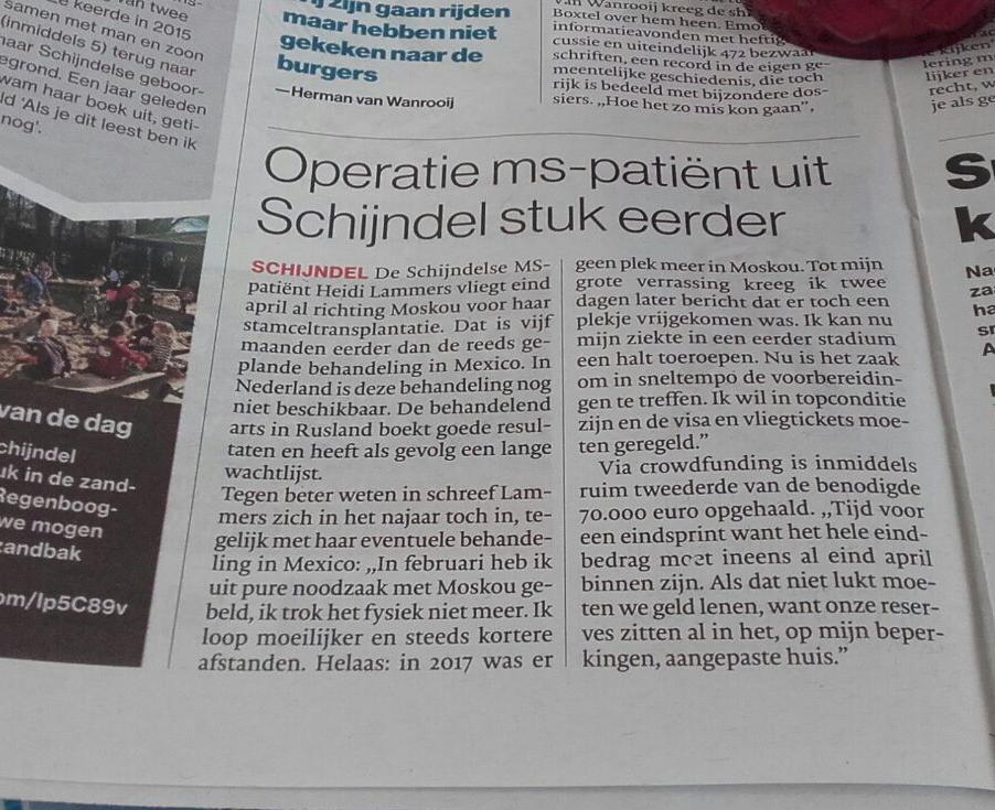 Artikel Brabants Dagblad 10 Maart 2